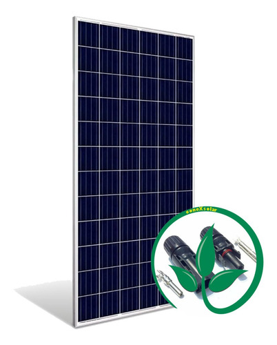 Imagem 1 de 8 de Painel Placa Solar 335w + Conector Mc4 Frete Gratis Garantia