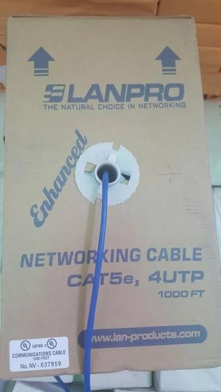 Caja De Cable Utp Marca Lanpro Categoria 5e 70% Cobre