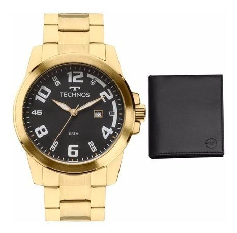 Kit Relógio Masculino Technos 2115mgs K4p Analógico Calendár