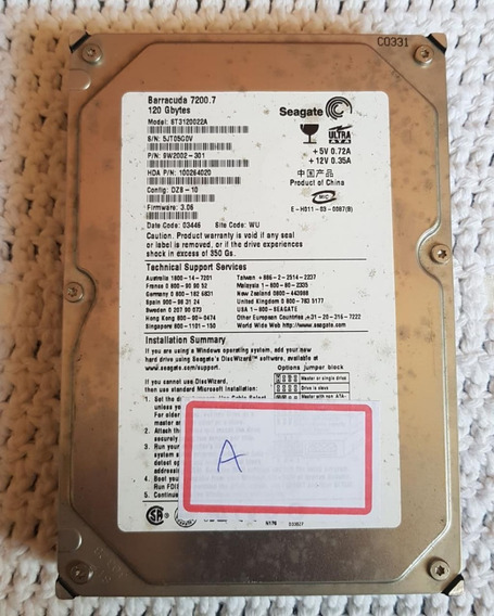 Hd 120gb Seagate Barracuda 7200.7 St3120022a-alerta