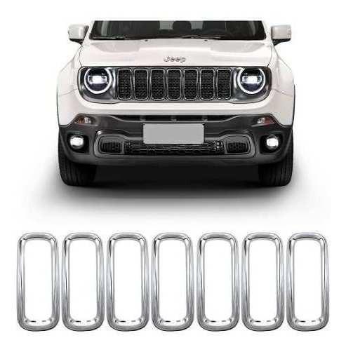 Kit Apliques Frontais Cromados Novo Jeep Renegade 2019 2020