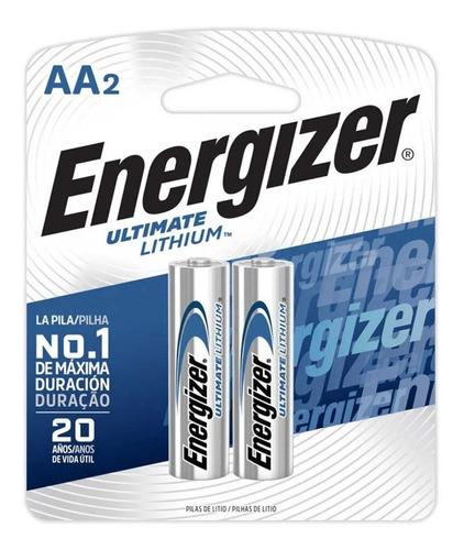Pilha Energizer Ultimate Lithium Aa Pequena Aa2 Dura 20 Anos