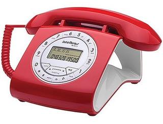 Telefone Com Fio Estilo Retro Vermelho Tc 8312 - Intelbras