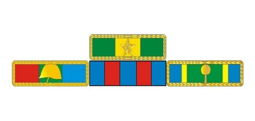 Imagem 1 de 3 de Placa Com 4 Barretas De Medalhas - Fixação Por Imã