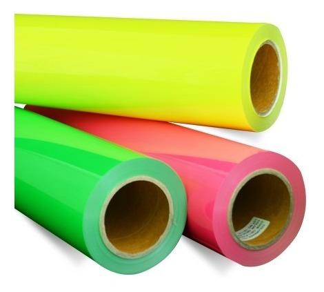 Imagen 1 de 3 de Vinil Textil De Detalle Color Make More Sticky Neon 5 Metros