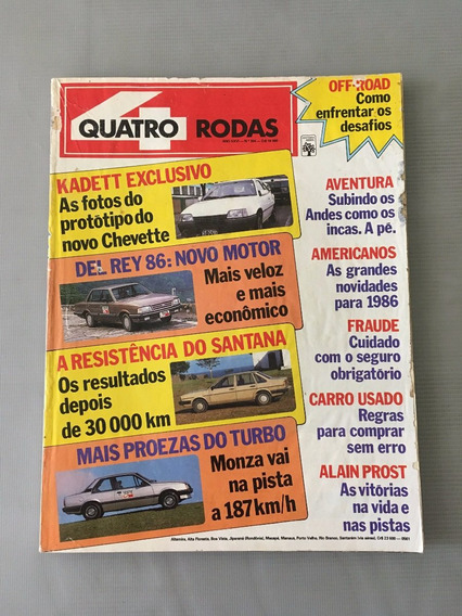 Revista Quatro Rodas - Novembro 1985 - Nº 304 Kadett Del Rey