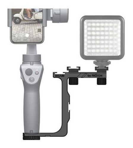 Suporte De Microfone E Iluminação Na Dji Osmo Mobile 2