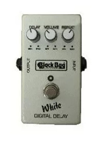 Pedal De Guitarra White Delay Twd Black Bug