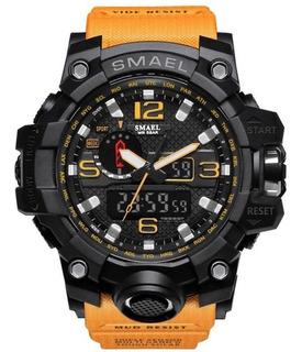 Reloj Militar Smael S-shock Alarm Sumergible Varios Colores