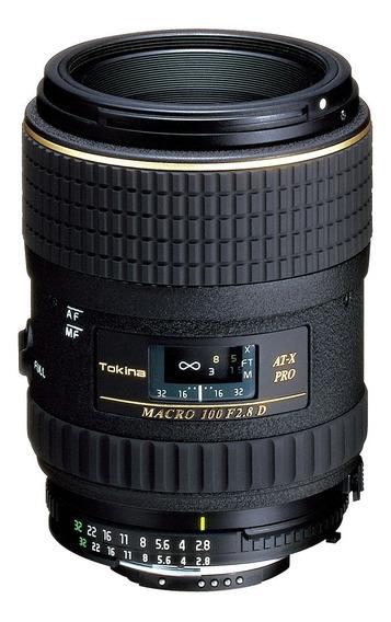 Objetiva Tokina At-x 100mm F2.8 Macro Pro D Fx Para Nikon