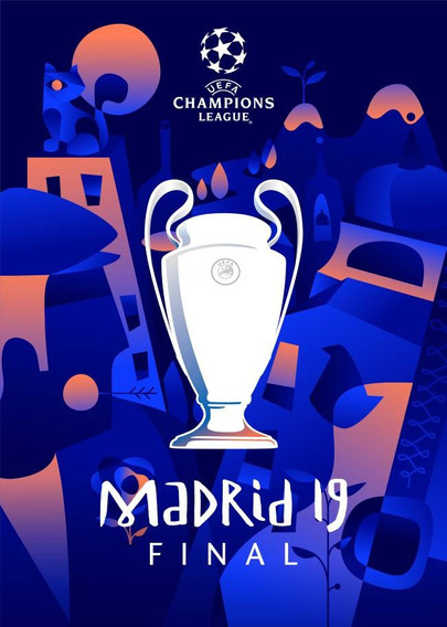 Champions League Final Liverpool Tottenham Afiche Original