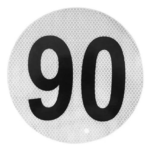 Imagen 1 de 4 de Círculo Reflectivo Reglamentario Velocidad Máxima Apto Vtv
