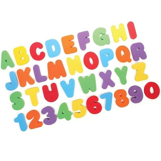 Brinquedo Atividades Alfanumérico Educativo 36 Peça Infant