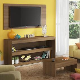 Rack Com Painel Para Tv E Mesa De Centro Madesa Flórida