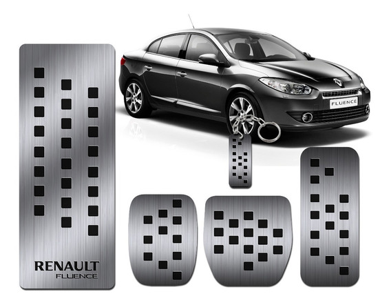 Pedaleira E Descanso Pé Aço Inox Puro Renault Fluence Manual