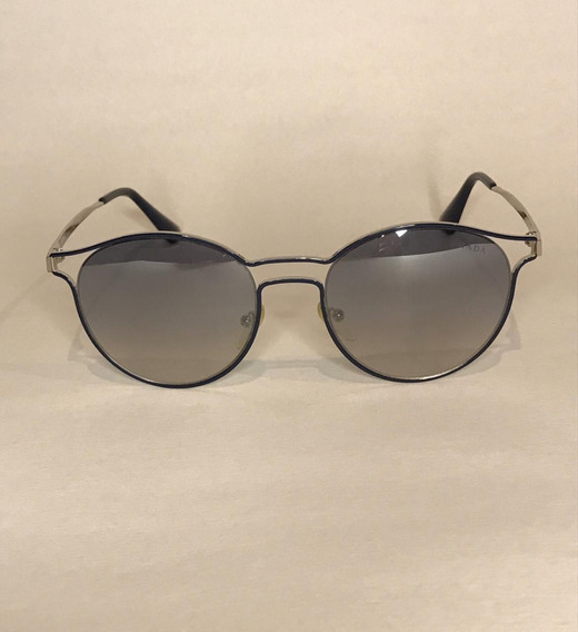 Óculos Solar Prada, Modelo Spr 62s Tfm-5r0, Azul/prata/espel
