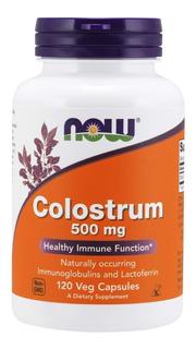 Colostro 500 Mg Now Foods 120 Veg Caps Função Imunológica