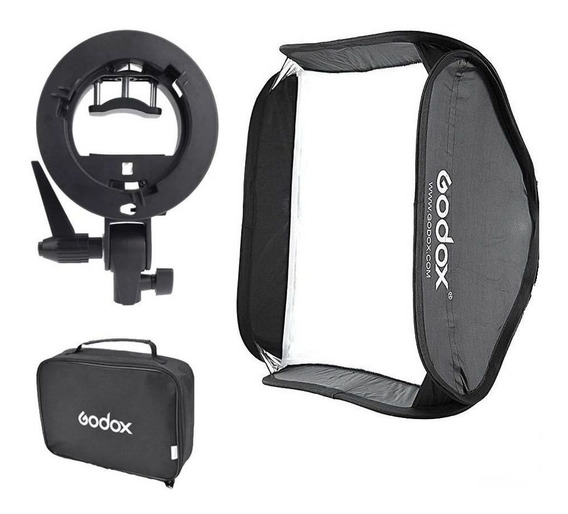 Softbox Godox 60x60cm P/ Flash Speedlite C/ Suporte Bracket