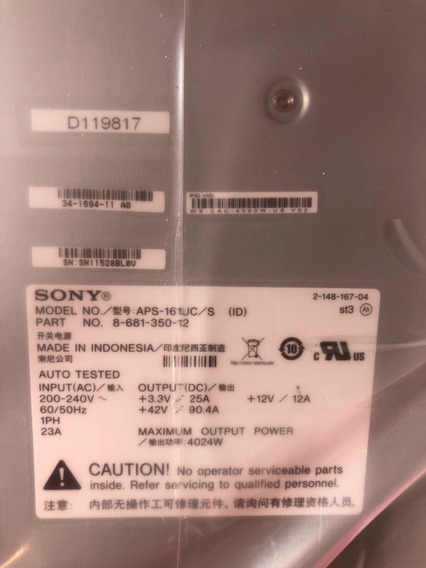 Sony Aps-161uc/s Cisco Part Number. 8-681-350-12 Psu 4024w