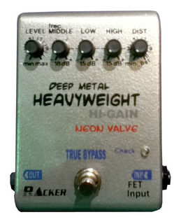 Pedal Efecto Guitarra Racker Heavyweight Distorsion Envios