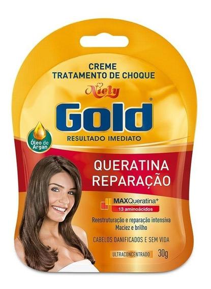 Niely Gold Sachê Tratamento De Choque Queratina Reparação