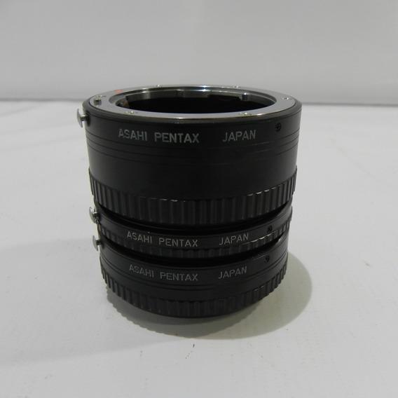 Tubo Extenso Câmera Asahi Pentax K Set - C/ Caixa E Case