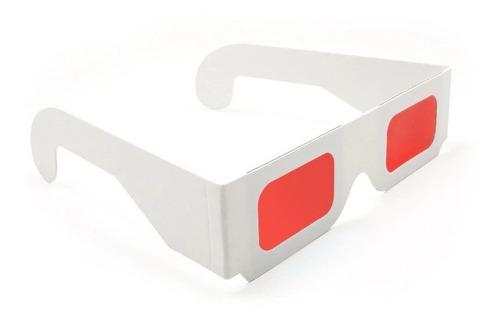Gafas 3d Decodificador Secreto Lente Rojo - Rojo