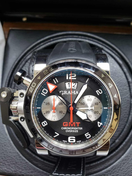 Relógio Graham Chronofighter Oversize Gmt Original Novo Top