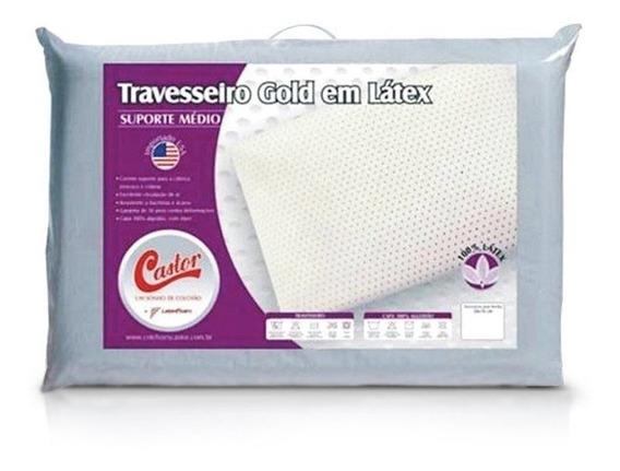 Travesseiro Castor Gold Star Látex Médio 50x70x15cm