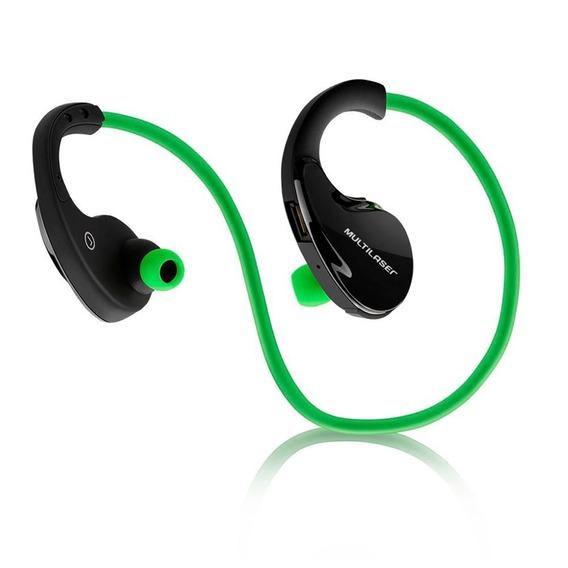 Fone De Ouvido Sport Bluetooth Verde Ph184 Multilaser