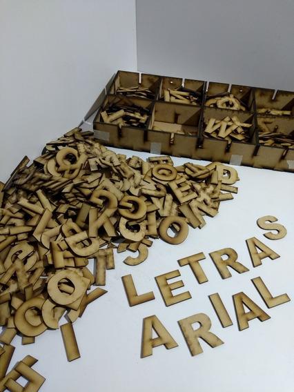 Pack 400 Letras Y Numeros Arial 1,5 Cm Fibrofacil_mdf