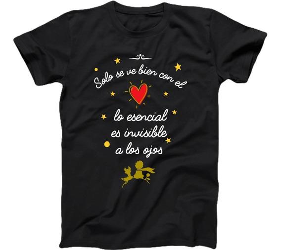 Playera Principito Frase Solo Se Ve Bien Con El Corazón