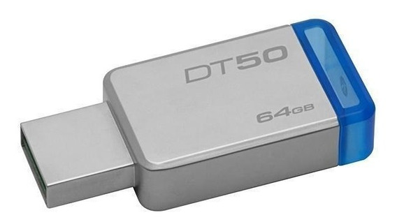 Pendrive Kingston Datatraveler 50 64gb Usb 3.1/3.0/2.0 - Pra