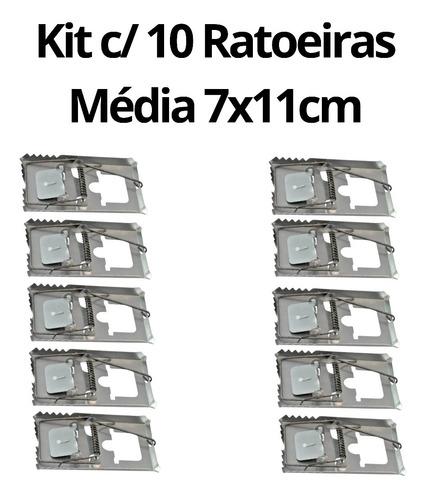 Kit C/ 10 Ratoeiras Média 7x11cm Acho - Tradicional C/ Molas