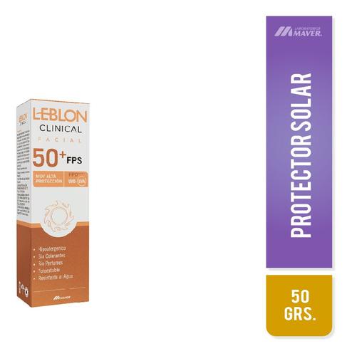 Leblon Clinical Fps 50 Amplio Espectro Facial Con Color 50 G