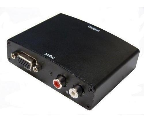 Conversor Vga Para Hdmi Com Áudio 1280x1024 Ligar Pc Na Tv