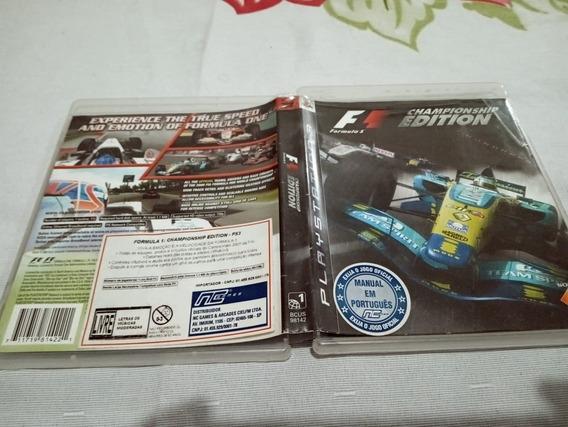 F1 Champioship Edition Usado Play3 3#r
