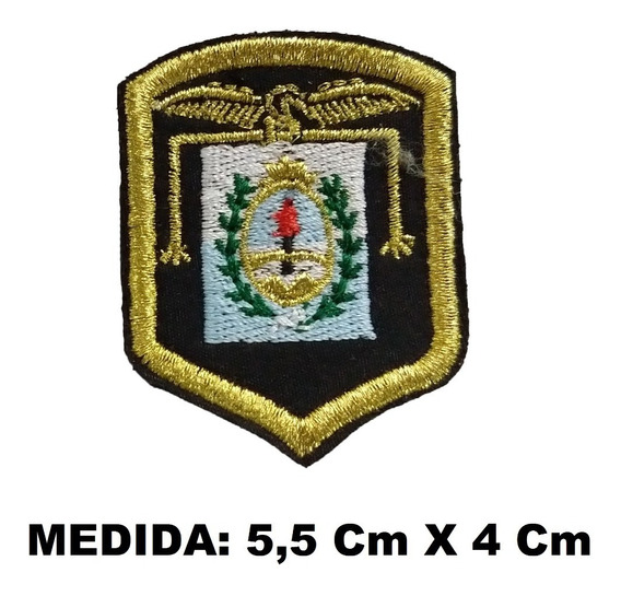 Escudo Parche Regimiento De Montaña Bordado Dorado Boina