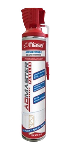 Imagen 1 de 3 de Niasa Admaster Paneles - Adhesivo Espreable Para Plaka Comex
