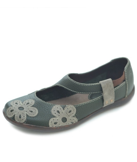 Sapato Hms Couro Verde Musgo