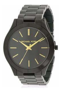 Reloj Mujer Michael Kors Slim Runway Negro Mk3221