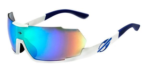 Óculos De Sol Mormaii Predador Espelhado Azul & Verde