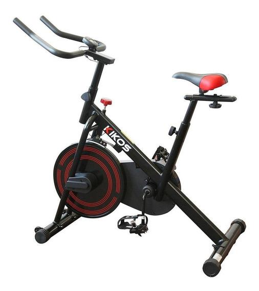 Bicicleta ergométrica spinning Kikos F3 preta