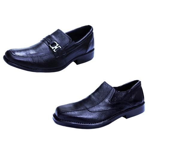Promocao Com Dois Sapatos Social Casual Couro Legitimo Abc