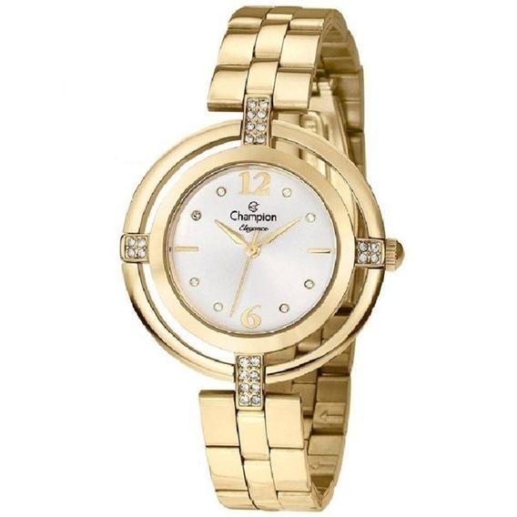 Relógio Champion Feminino Dourado Cn25421h