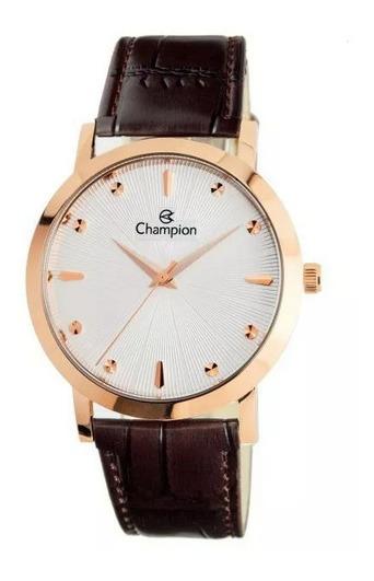 Relógio Champion De Couro Feminino Cn20622z Pronta Entrega