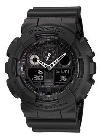 Relógio Casio G-shock Ga-100-1a1 Preto Fosco 12 S Juros Sp