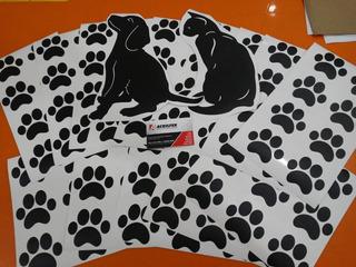 122 Adesivos De Parede Vidro Pet Shop Patas Decorativo Vinil