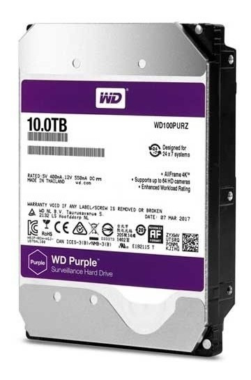 Hd Wd Western Digital Purple 10tb 3.5 Sata 6gb/s Roxo