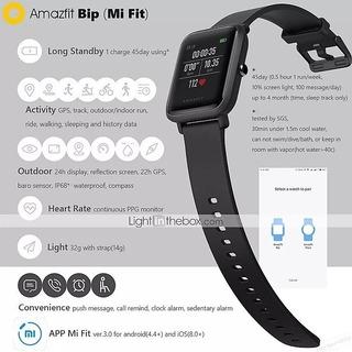 Xiaomi Amazfit Bip Smartwatch Versão Chinesa Idioma Chines